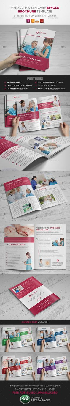 Medical Health Care Bifold Brochure - InDesign