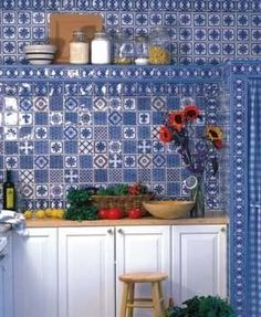traditional kitchen by Filmore Clark  by Filmore Clark  by Filmore Clark  An enthusiastic use of tile is a hallmark of French country kitchens!