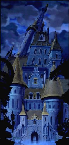 Exterior scenery still of The Beast's castle