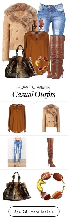 """""""Casual"""" by alice-fortuna on Polyvore featuring Liven, Pinko, Christian Dior, Forever Link and Mark Davis"""