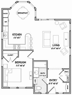 Plan W12427NE: Vacation, Cottage, Narrow Lot House Plans & Home Designs