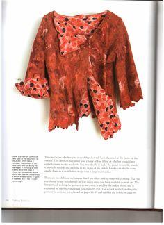 Недавно в сообществе задавали вопрос про книги о валянии одежды. вот несколько страничек с выкройкой жакета, ну , и заодно, содержание, чтобы было понятно, что там еще есть интересного Фотографии в альбоме «Felting Fashion» natalvor на Яндекс.