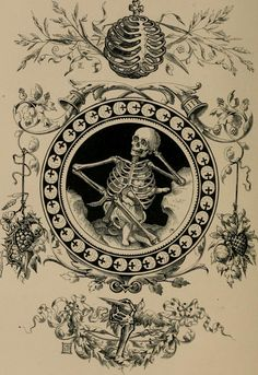 "Illustration from ""Quarles' emblems: illustrated by Charles Bennett and W. Harry Rogers"" (via Internet Archive) Art Macabre, Danse Macabre, Memento Mori Art, Dance Of Death, Esoteric Art, Occult Art, Art Nouveau Design, Vanitas, Art Graphique"