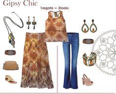 #lookcasual #argollamoda #regata #saialonga #bijoux #colar #brinco #necklace #earring #designexclusivo #argollabijouxebureau