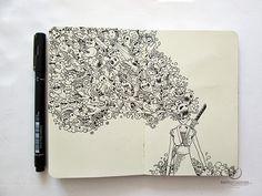 06-Onna-Bugeisha-Filippino-Artist-and-Illustrator-Kerby-Rosanes-Pen-Doodles-www-designstack-co