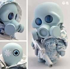 Squadt Designer Vinyl Figure by Shinbone Creative , via Behance