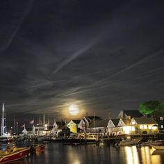 """Moon over Nantucket """