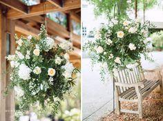 Marie Selby Botanical Gardens Sarasota Wedding garden suspended arrangement