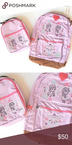 Hanna Andersson Disney Frozen Backpack Lunch Tote Hanna Andersson Disney Frozen Elsa Anna Backpack Lunch Tote Set   Condition: New w/Tag My items come from a smoke-free household, we do have a kitty. Hanna Andersson Accessories Bags