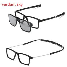 b6dc86e2fc00 Newest 2 lenes change arms Magnet Sunglasses Clip Polarized Clip on  Sunglasses clip on glasses Men custom Prescription Myopia