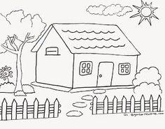 Aneka Gambar Mewarnai Gambar Mewarnai Rumah Untuk Anak Paud Dan Tk Pelajaran Menggambar Dan Mew Gambar Mewarnai Pinterest Dan