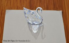 Drawing glass:How to Draw a 3D Swarovski Crystal Swan- Fine Art-Tips by ...