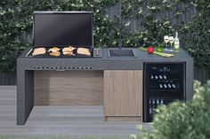 """Excellent """"Outdoor Kitchen Appliances pictures"""" info is readily available on our internet site. Check it out and you wont be sorry you did. Design Barbecue, Barbecue Area, Outdoor Barbeque Area, Outdoor Kitchen Patio, Outdoor Kitchen Design, Outdoor Kitchens, Parrilla Exterior, Electric Bbq, Built In Bbq"""
