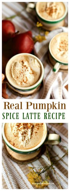 Real Pumpkin Spice Latte Recipe is made with canned pumpkin, delicious enough to…