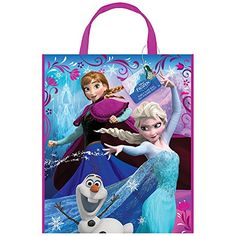Large Plastic Disney Frozen Goodie Bag 13 x 11 -- Read more reviews of the product by visiting the link on the image.