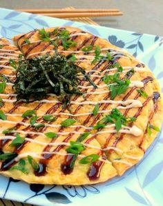 Okonomiyaki (omelete japonesa com vegetais)