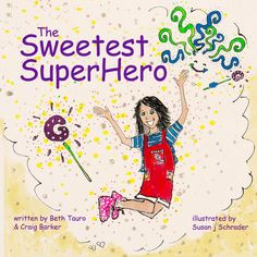 """We're excited to now offer the new children's book: """"The Sweetest Superhero"""" written by local authors Beth Tauro and Craig Barker and illustrated by Susan j Schrader Art   They will have their book Launch Saturday, December 10th 12pm-4pm @ The Crazy Candy Lady Store in Marblehead with sweet snacks and drinks to celebrate!  If you can't make it into the store, you can order the book online, at Marblehead.Works  #Marblehead #Massachusetts #Children #book"""