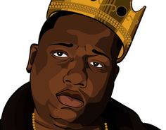 I just created this illustration of B.I.G. to pay tribute to the Late and Great MC.