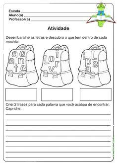 Atividade Volta ás Aulas / 2º Ano   Ideia Criativa - Gi Barbosa Educação Infantil
