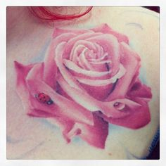 rose tattoo with pink - Buscar con Google