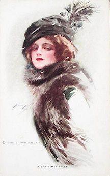 Fisher postcard #3. Harrison Fisher  (1877 Brooklyn, NY - 1934 New York)
