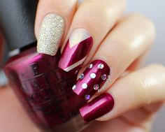 OPI Mariah Carey Holiday 2013 Collection Nail Art