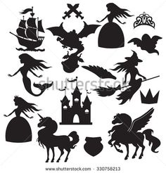 Find Fairy Tale Silhouette Vector Illustration stock images in HD and millions of other royalty-free stock photos, illustrations and vectors in the Shutterstock collection. Shadow Theatre, Princess Silhouette, Puppets For Kids, Shadow Play, Shadow Box, Maila, Shadow Puppets, Silhouette Vector, Conte