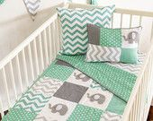 PREORDER- Pachy the Elephant Baby Crib Quilt 4pc set