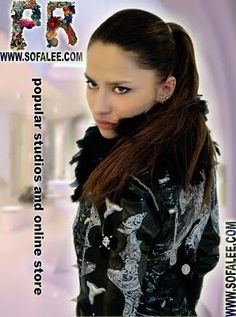Gothic women's silver leather jacket Milana 2