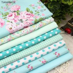 8 PCS 40cmx50cm Victoria set flower Printed cotton fabric for quilting patchwork tecido tela clothing bedding tissus