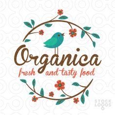 Exclusive Customizable Logo For Sale: Organica | StockLogos.com