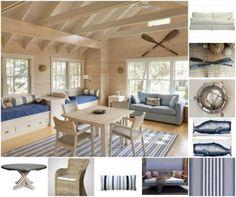 Sally Lee by the Sea | Beach House Family Room Decor Inspiration! | http://nauticalcottageblog.com