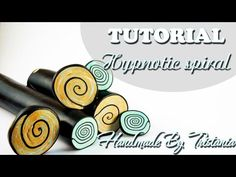 "Polymer clay tutorial:  Cane Hypnotic SpiralМастер-класс: Кейн ""Гипнотическая Спираль""DIY - YouTube"