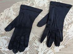 Gloves Black Vintage Dress Funeral Evening Bohemian by frstyfrolk