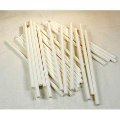 White Paper Chew Lolly Stix Paper Sticks for Bird Toys 25 Pieces - WindyCityParrot.com