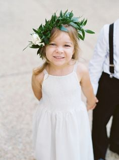 Greenery wedding crown: Photography: Simply Sarah - http://simplysarah.me/