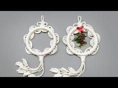 Macrame Design, Macrame Art, Macrame Projects, Macrame Knots, Beaded Necklace Patterns, Macrame Patterns, Crochet Earrings, Diy Christmas Ornaments, Xmas