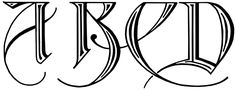 Free Calligraphy Alphabets :: Image 1