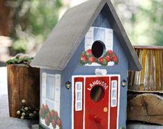 Comedero para pájaros decorativo pintado para que coincida con su casa