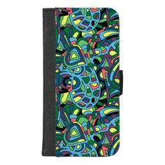 Colorful Mosaic Abstract Pattern iPhone 8/7 Plus Wallet Case - fun gifts funny diy customize personal
