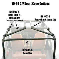 1978 jeep cj7 wiring diagram nissan almera 27 best parts diagrams images rock hard 4x4 rh1003 i angle bar clamp set for sport cages 1979 86 automotive and accessories