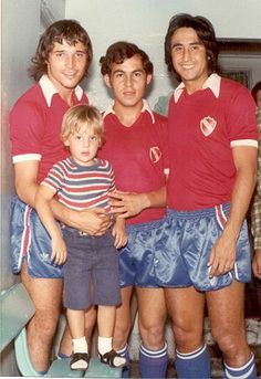 1975 Daniel Bertoni, Ricardo Bochini y Percy Rojas - Club Atletico Independiente de Avellaneda