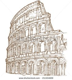 Architecture Drawing Discover Similar Images Stock Photos & Vectors of Italy hand drawn landscape in vintage style - 151165943 Stock Images similar to ID 151165943 - italy hand drawn landscape in. Sketchbook Architecture, Roman Architecture, City Drawing, Painting & Drawing, Pencil Art Drawings, Art Sketches, Tattoo Drawings, Tattoos, Andrea Palladio