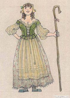 Baskerville (Shepherdess). McCarter Center. Costume design by Jess Goldstein.