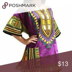 African dashiki shirt for men and women African dashiki shirt for men and women this is one size will for small to extra large Tops Tees - Short Sleeve