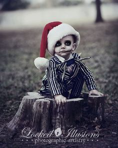 Baby Jack Skellington... Makes me want to have a little boy just so I can dress him like this for halloween!
