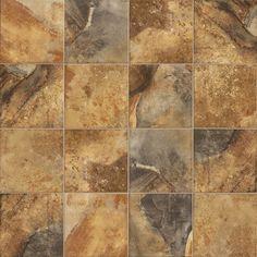 Kepa Rust Porcelain Tile - 16 x 16 - 100083690 Shower Floor, Tile Floor, Marazzi Tile, Polished Porcelain Tiles, Commercial Flooring, Style Tile, Floor Decor, Tile Design, Mosaic Glass