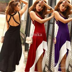 4e06459a0c79 casual wear · Wholesale Casual Dresses - Buy Trendy Womens Summer Sexy  Backless Sleeveless Empire Spaghetti Strap Asymmetric Party