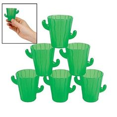 Cactus Shot Glasses - Cinco de Mayo & Party Tableware