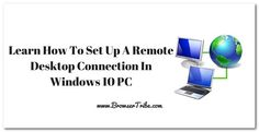 How To Use Remote Desktop To Connect To A Windows 10 PC? #windows10 #operatingsystem #microsoft #RDP